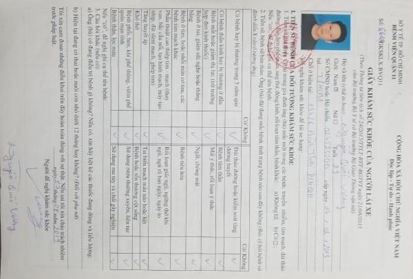 Mức Phạt Doanh Nghiệp-Hợp Tác Xã và Lái Xe Không Khám Sức Khỏe 6 Tháng 1 Lần