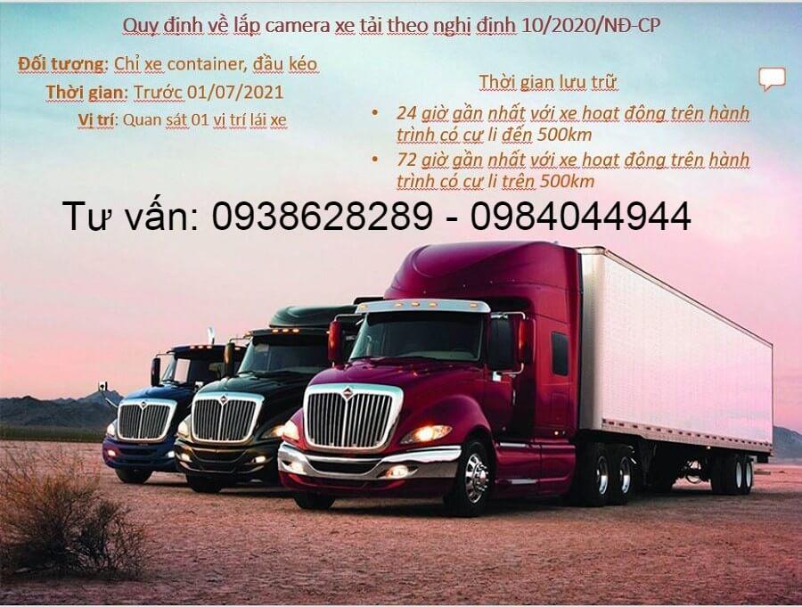 Xe container đầu kéo xe 9-16-29-45 chỗ phải lắp camera khi nào?